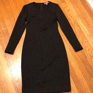 Black textured Betsey Johnson dress